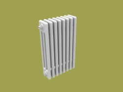Model of a tubular radiator with valve