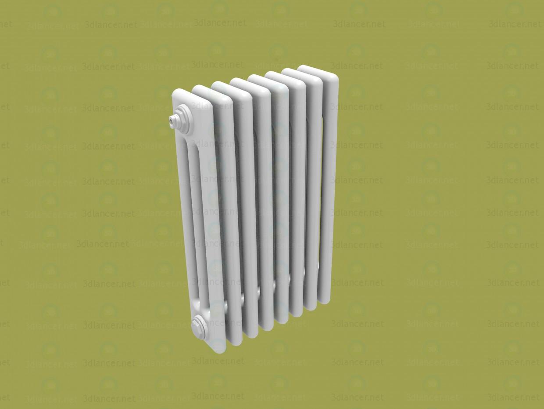 3d модель Модель трубчатого радиатора с краном Маевского – превью