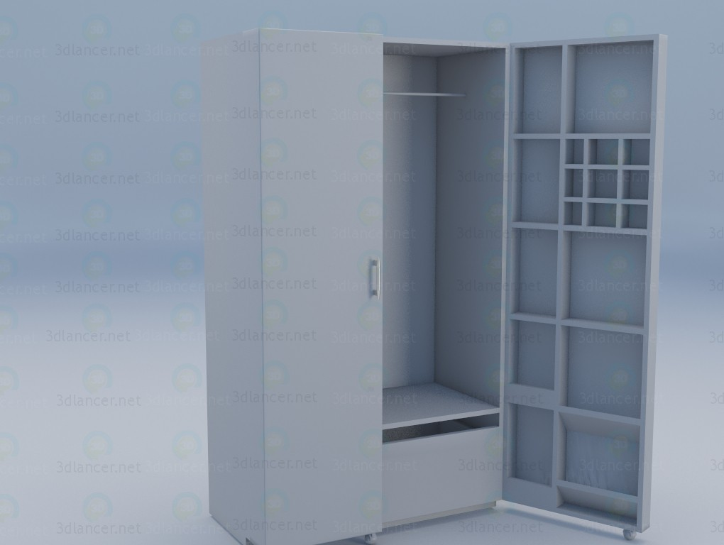 3d model Sandwich Wardrobe - preview