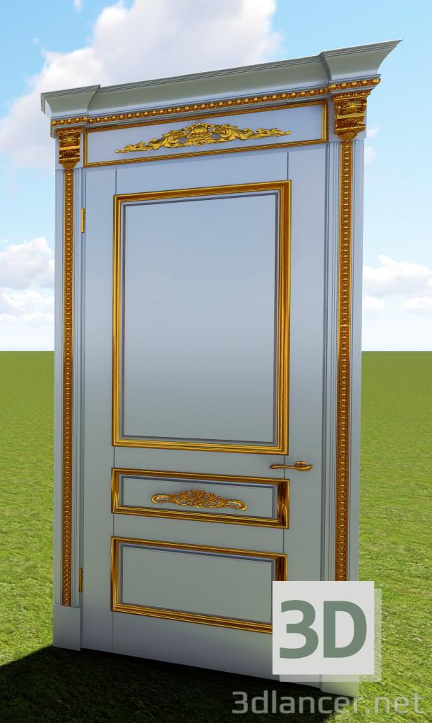 3d model Puerta izquierda clásica - vista previa