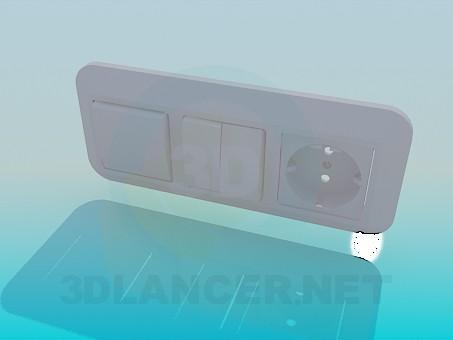 modelo 3D Cables, interruptores - escuchar