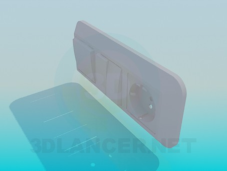 3d модель Розетка, выключатели – превью