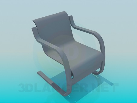 descarga gratuita de 3D modelado modelo Silla de Nouveau