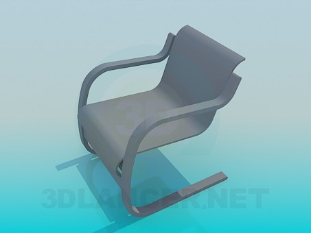 3d model Nouveau chair - preview