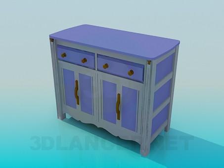 3d model Table-floor standing - preview