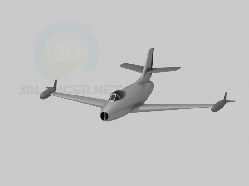 3d model dasault ouragan - preview