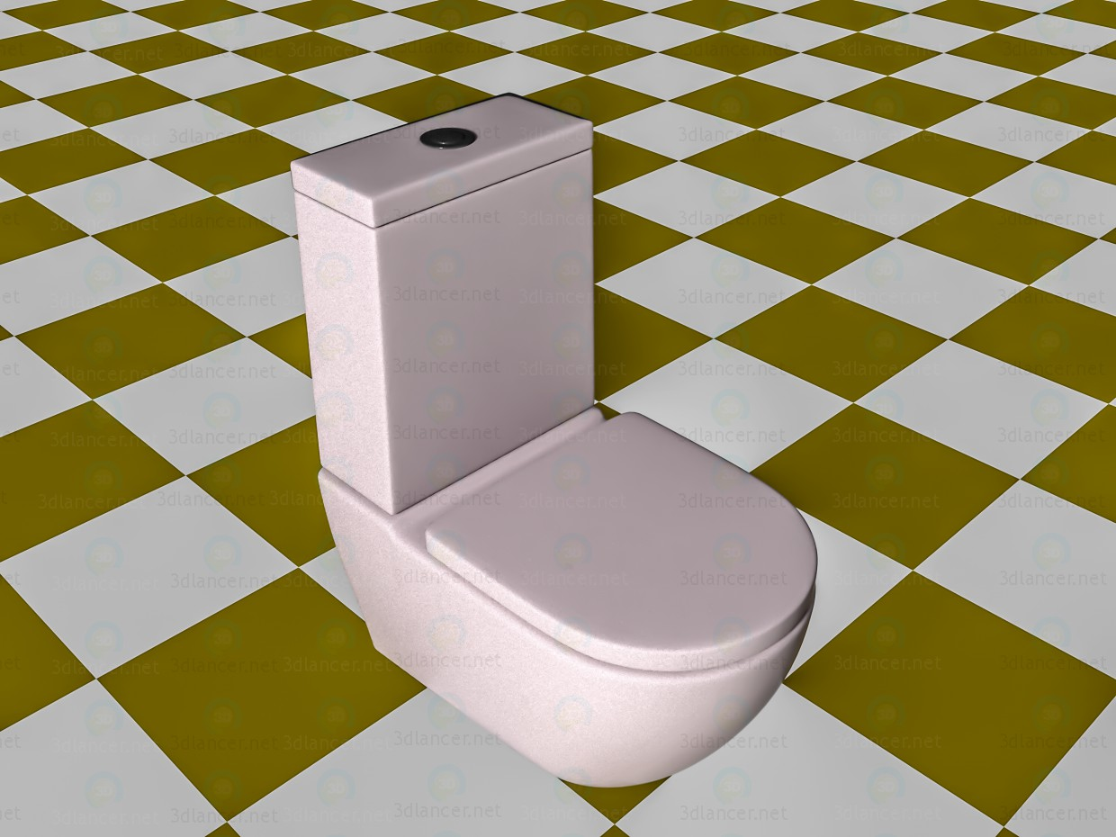 3d model Modell der Toilette in der modernen form, blender ...