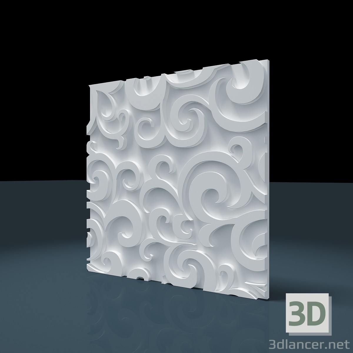 3d модель Панель 3D «Лист» – превью