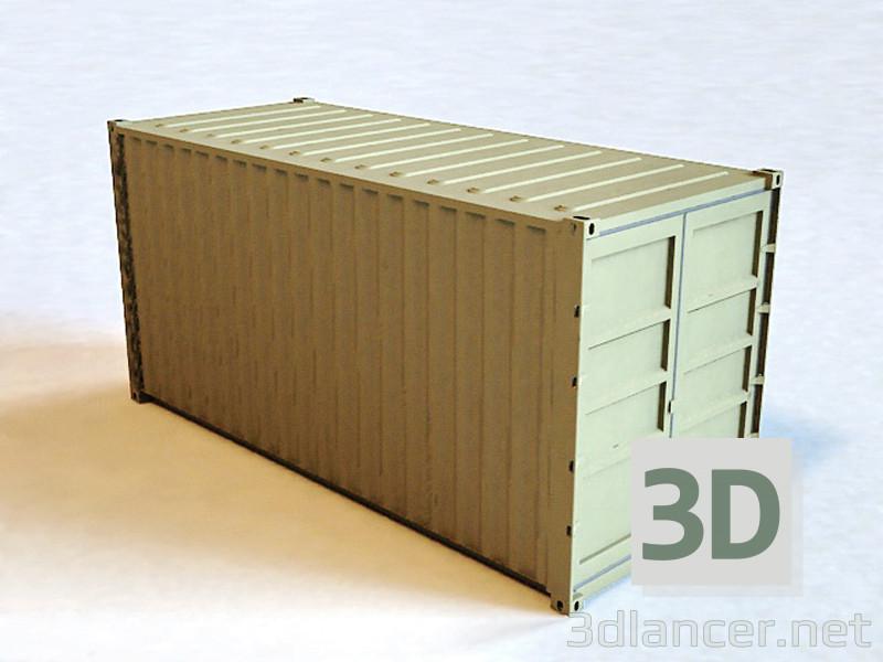 3D modeli Kargo Taşıma Konteynerleri - önizleme