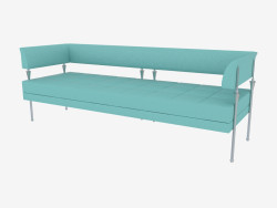 sofá de couro Triplo