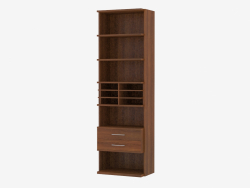 Furniture wall element with open shelves