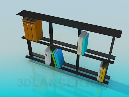 3d модель Книжная полка – превью