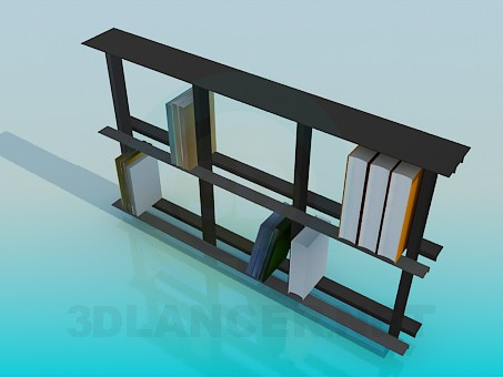 3d model Bookshelf - preview