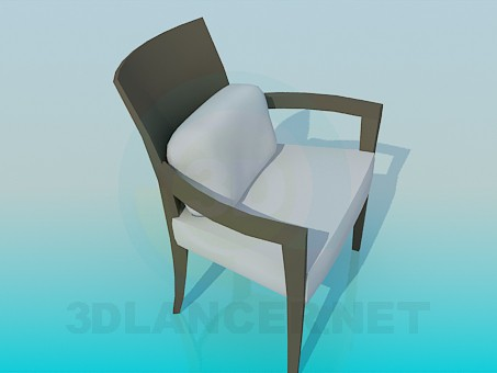 3d modeling Chair with comfortable pillow model free download