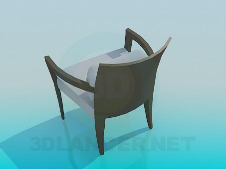 modelo 3D Silla con almohada cómoda - escuchar