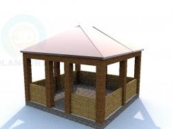 Un pavillon d'été simple et pratique