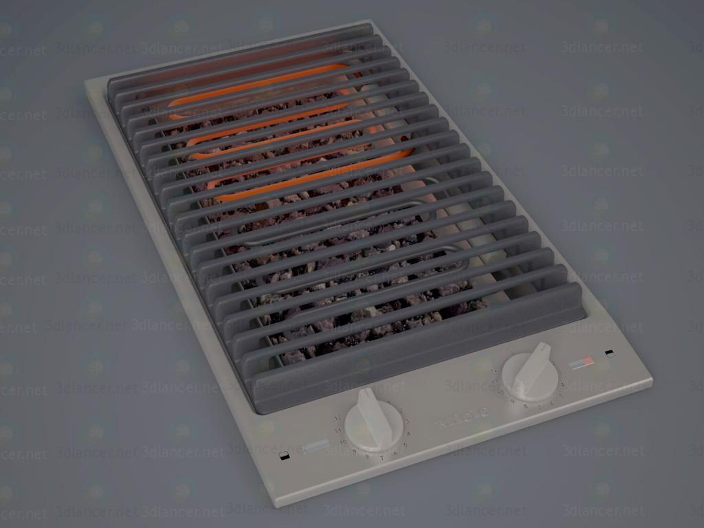 3d моделирование Комби гриль. Miele CS 1312 BG модель скачать бесплатно