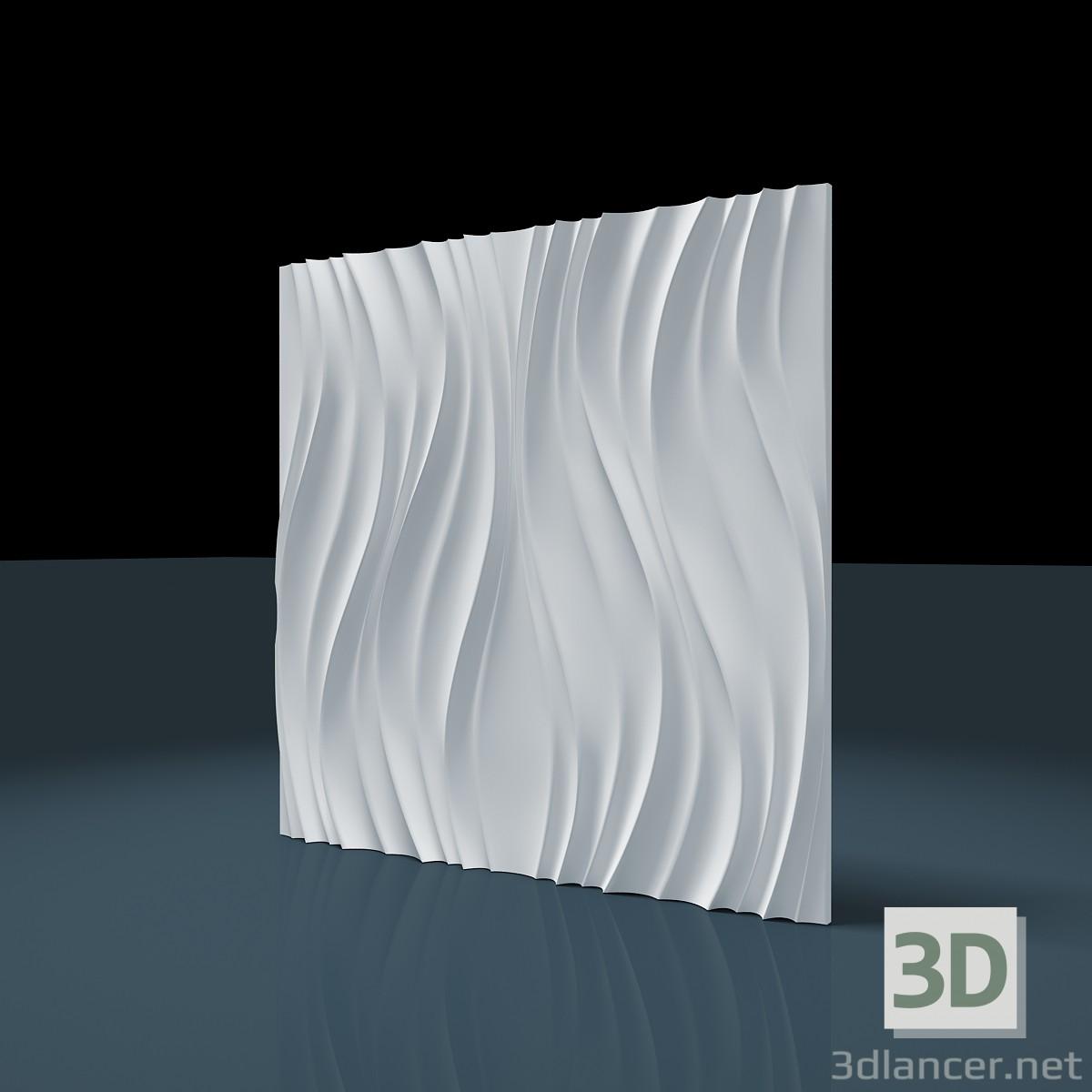 """3d модель 3D панелі """"Lotos"""" – превью"""
