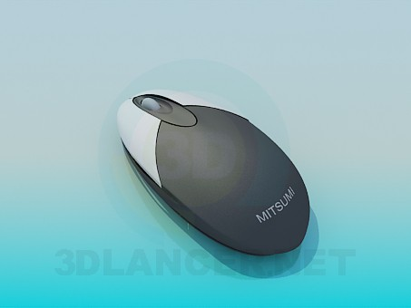 3d model Wireless computer mouse - preview