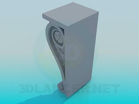 modelo 3D Elemento de decoración - escuchar