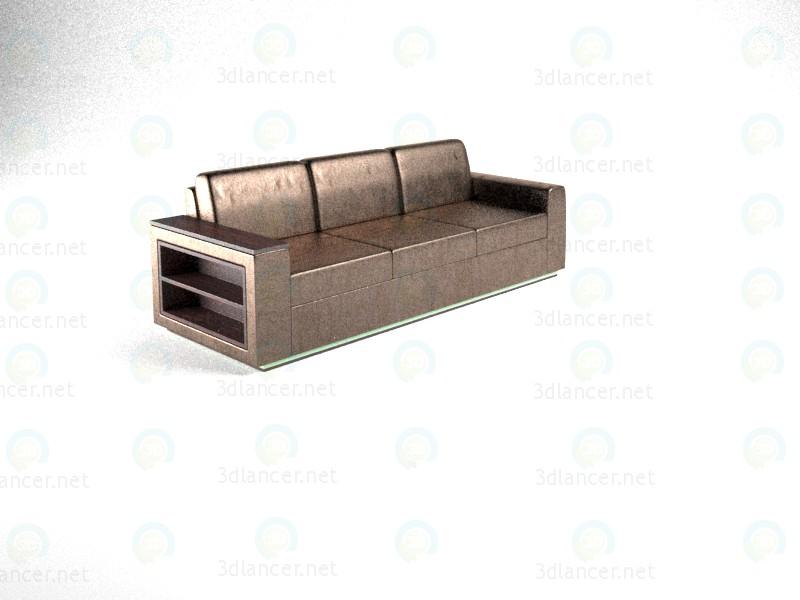 3D Modell Sofa schreien mit Bücherregal und Hintergrundbeleuchtung - Vorschau