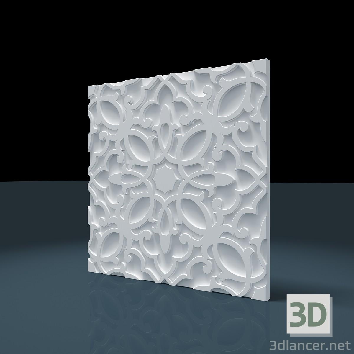 3d модель Панель 3D «Персидский» – превью