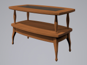कॉफी टेबल लकड़ी का गिलास