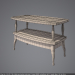 3d coffee table wood glass model buy - render
