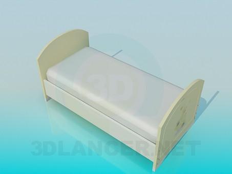 3d модель Ліжко для дитини – превью