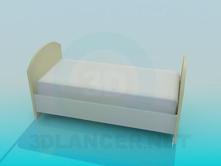 modelo 3D Cama para niño - escuchar