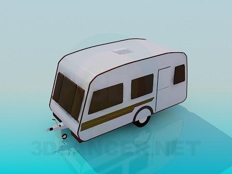3d модель Фургон – превью