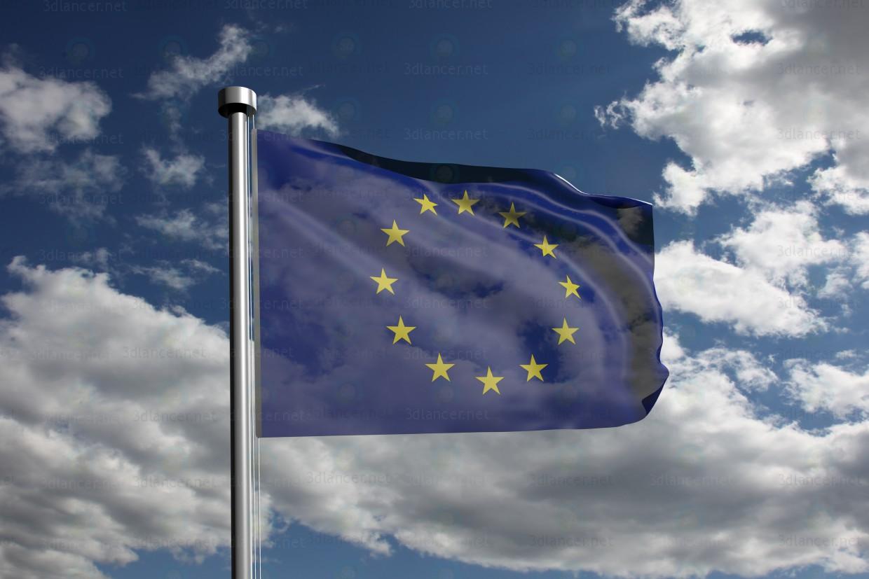 3d model Bandera de la UE - vista previa