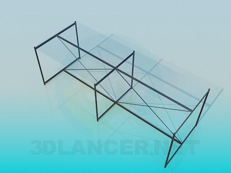 modelo 3D Mesa de centro rectangular - escuchar