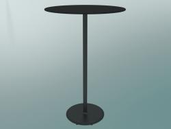 Tavolo BON (9382-71 (⌀ 70cm), H 109cm, HPL nero, ghisa nero)