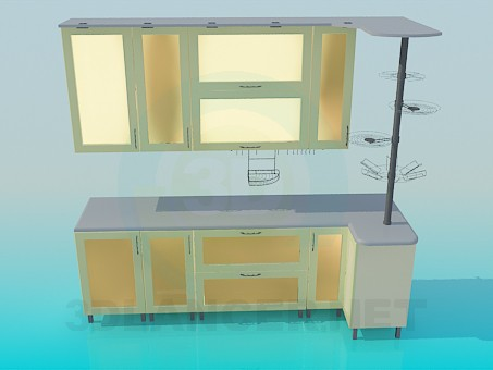3d модель Мебель для кухни – превью
