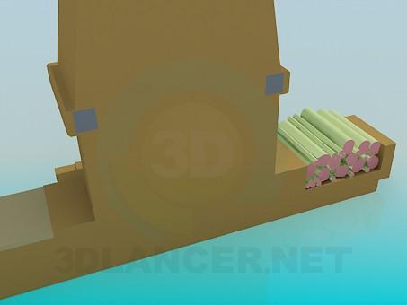 modelo 3D Chimenea con leña - escuchar