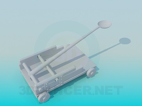 modelo 3D Catapulta - escuchar