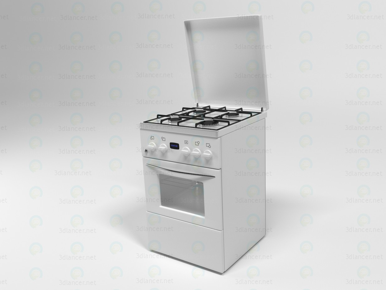 Modelo de estufa de gas de cocina 3D modelo Compro - render