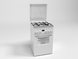 Model of kitchen gas range
