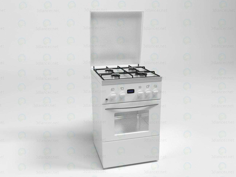 Modelo de estufa de gas de cocina pagado modelo 3d por escuchar victar