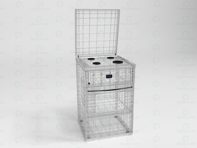 3d Модель кухонной газовой плиты модель купить - ракурс