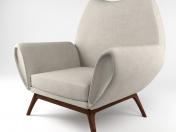 दुर्लभ कुर्त østervig लाउंज कुर्सी, 1960 के दशक का चिह्न