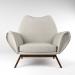3 डी दुर्लभ कुर्त østervig लाउंज कुर्सी, 1960 के दशक का चिह्न मॉडल खरीद - रेंडर