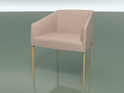 Armchair 2703 (with fabric upholstery, Natural oak)