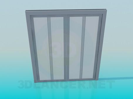 3d моделирование Раздвижные двери модель скачать бесплатно