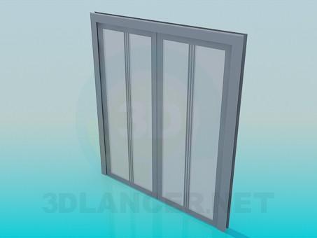 3d model Sliding door opening - preview