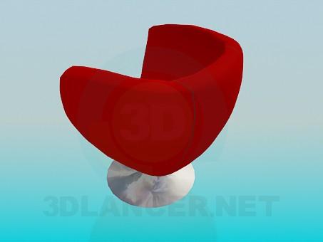3d модель Крісло на металевій ніжці – превью