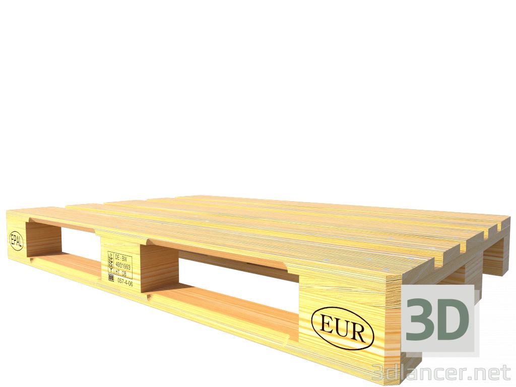 3 डी मॉडल पैलेट EPAL EUR - पूर्वावलोकन