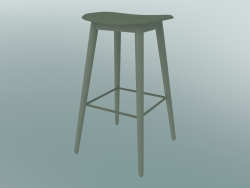 Tabouret de bar avec base en fibre de bois (H 75 cm, Dusty Green)