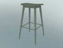 Sgabello da bar con base in fibra di legno (H 75 cm, verde polvere)